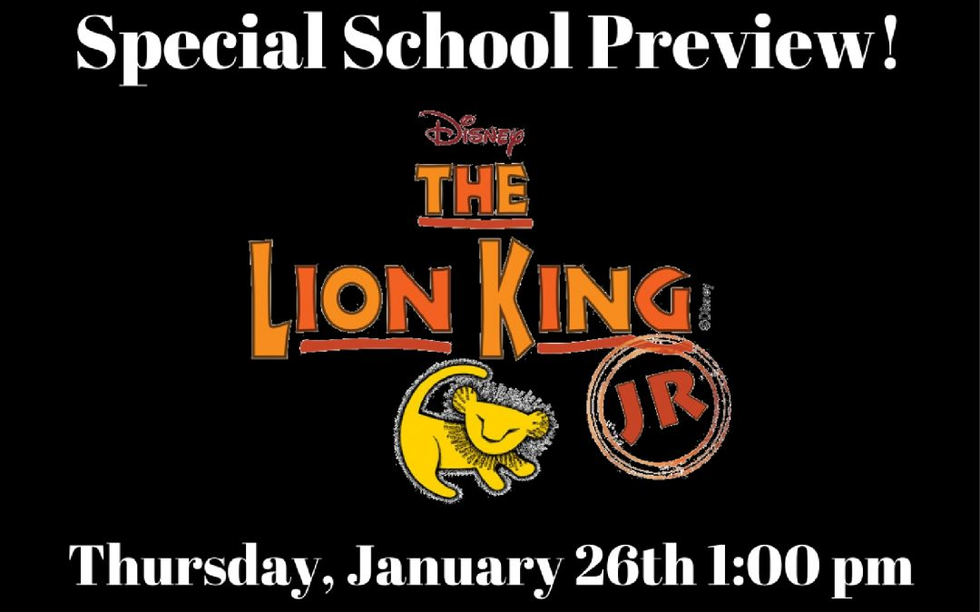 Special School Preview of The Lion King Jr!