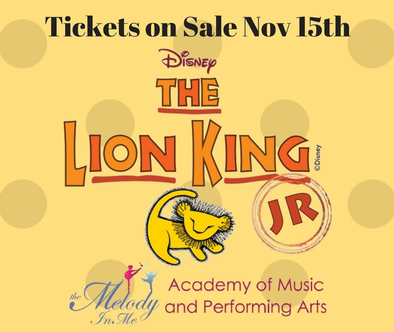 Tickets for The Lion King Jr.
