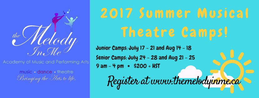 Registration for Summer Music Theatre Camps!