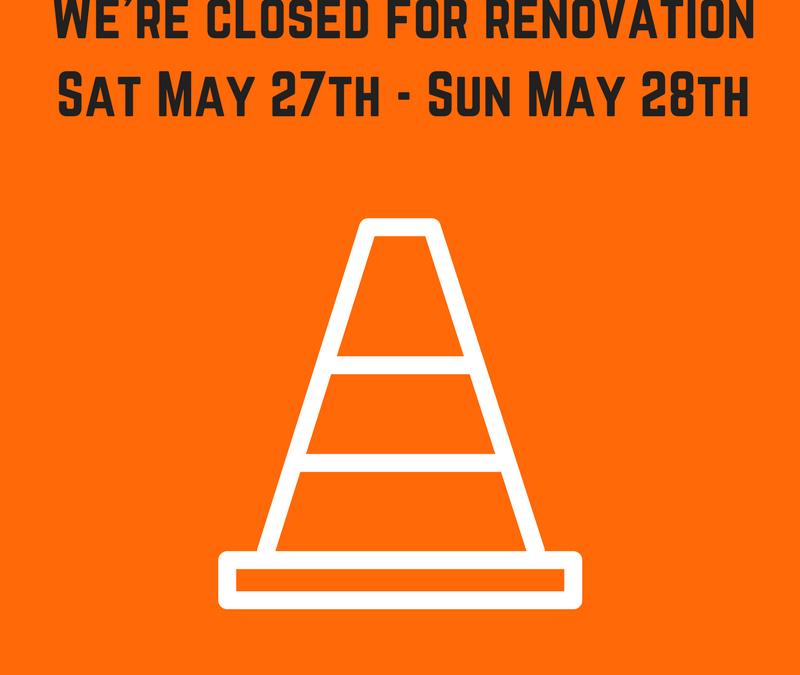 Construction at the Studio May 27-28